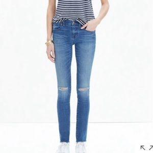 Madewell Sunnyside Knee-rip Blue Denim Size 23